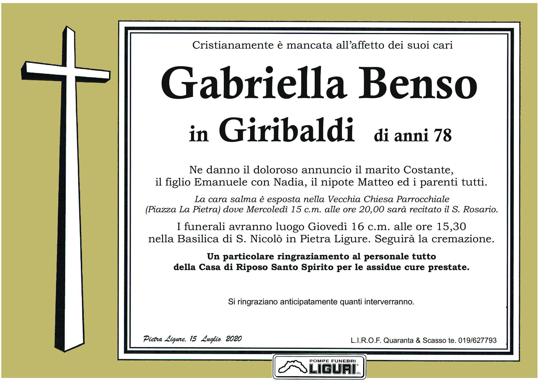 Benso Gabriella